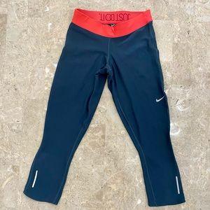 Nike Dri-Fit Blue Cropped Leggings Size XS